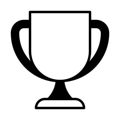 奖杯线图标的网页, 移动和信息, 矢量插图