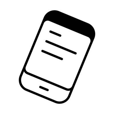 智能手机线图标的网页, 移动和信息, 矢量插图