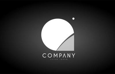 Q 字母字母黑色白色标志图标设计