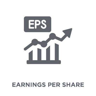 每股收益 (epps) 图标。每股收益 (eps) 设计概念来自每股收益 (eps) 集合。简单的元素向量例证在白色背景