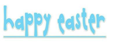蓝色快乐复活节标志