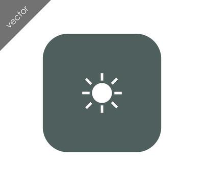 亮度 web 图标