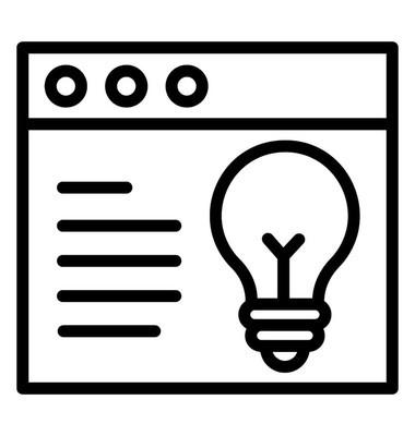 网站上的灯泡描述网站理念的图标思想