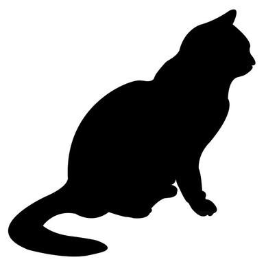 猫剪影矢量