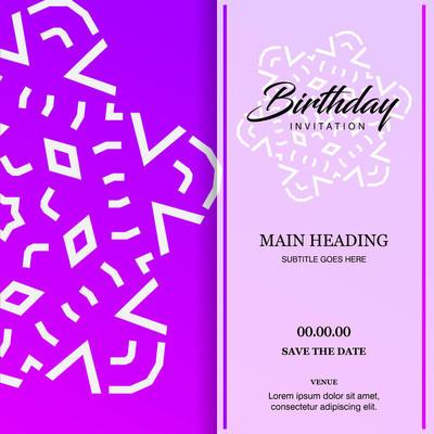 生日卡片设计、 矢量图