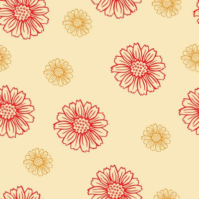 用鲜花矢量花纹