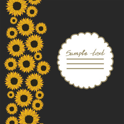 矢量图片与花向日葵