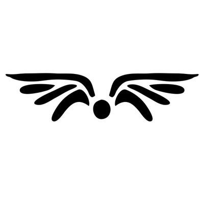 黑色的翅膀纹身