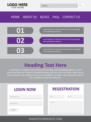 Web 页面设计矢量模板
