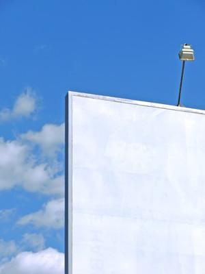 白色广告牌