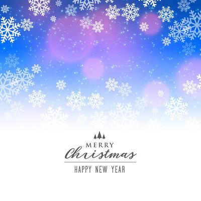 圣诞佳节的优雅雪花背景