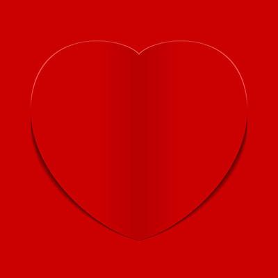 红色的心形背景矢量图