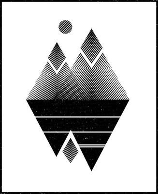 抽象山。概念图片。矢量插图