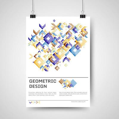 抽象的五颜六色的海报设计