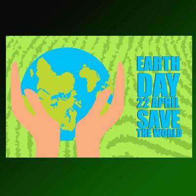 拯救世界地球日景观海报