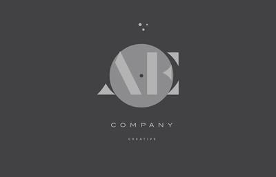 ae d 灰色现代字母表公司信标志图标