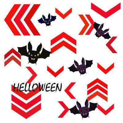 万圣节蝙蝠背景, 万圣节海报, 向量例证