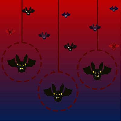 万圣节蝙蝠, 万圣节海报, 向量例证