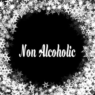 黑色背景的非酒精与不同的白色星框架