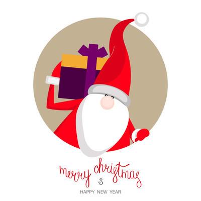 圣诞快乐, 新年快乐与圣诞老人的海报