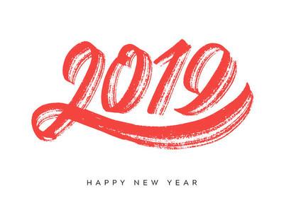 新年快乐2019。贺卡