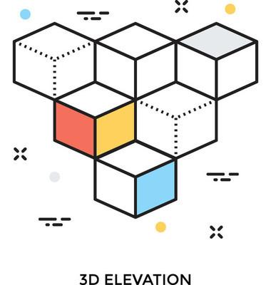 多维数据集彩色的矢量图标