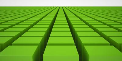 绿色的多维数据集