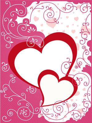 情人节或婚礼卡