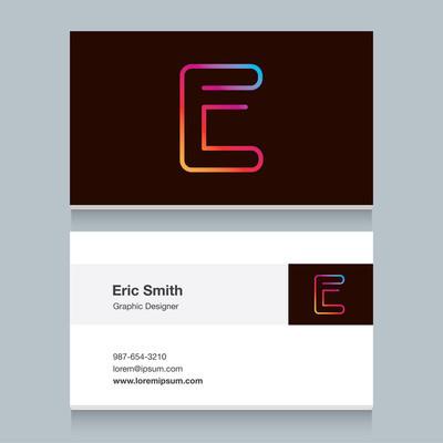 Logo alphabet letter 'E'