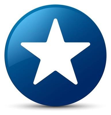 星形图标蓝色圆形按钮