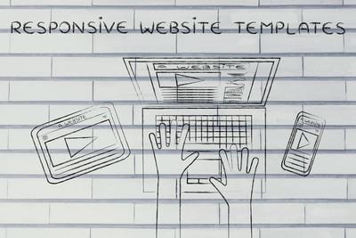 反应灵敏的网站模板概念