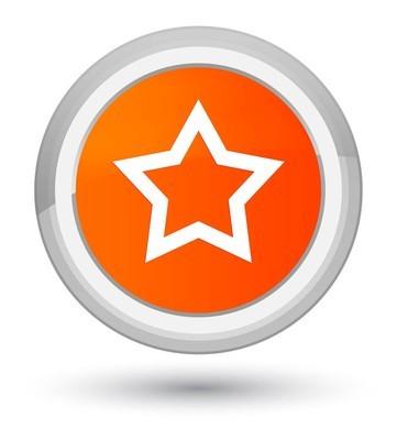 星形图标橙色圆形按钮