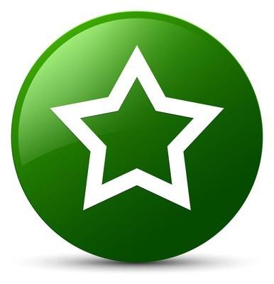 星形图标绿色圆形按钮