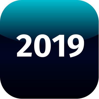 2019 年蓝色图标