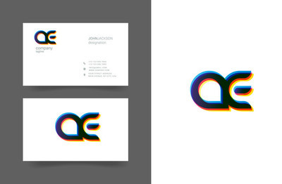 Ae 字母标志名片