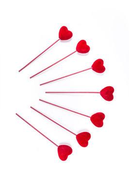 在棍子上的情人节爱心