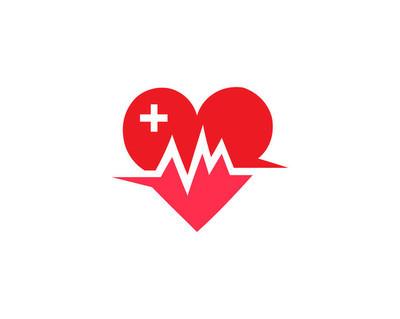 health care logo with heart shape
