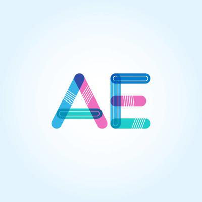 连接字母 Ae 徽标