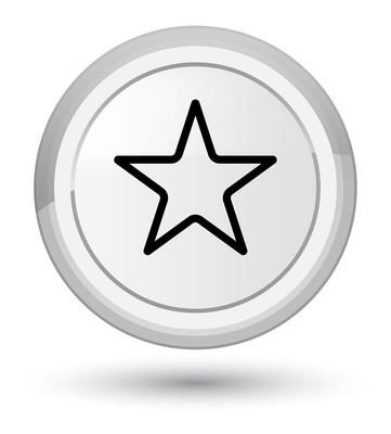 星形图标白色圆形按钮