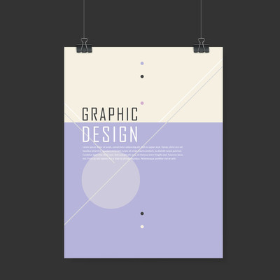 Simplicity poster template design