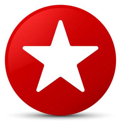 星形图标红色圆形按钮