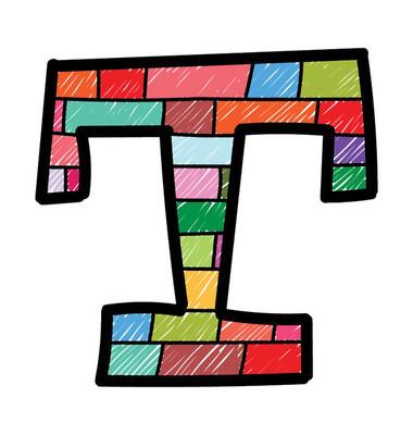 英文字母 T 的彩色设计