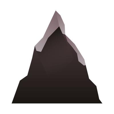 山脉图片孤立的图标