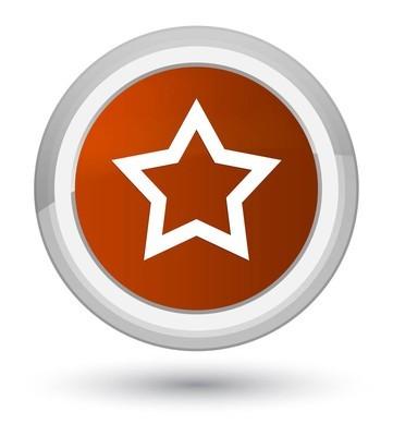 星形图标棕色圆形按钮