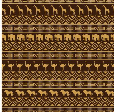 非洲风格无缝模式与野生动物