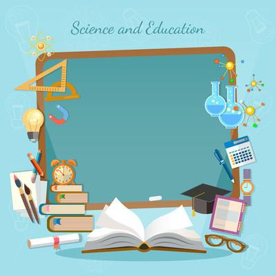 教育背景信息图表打开书的知识