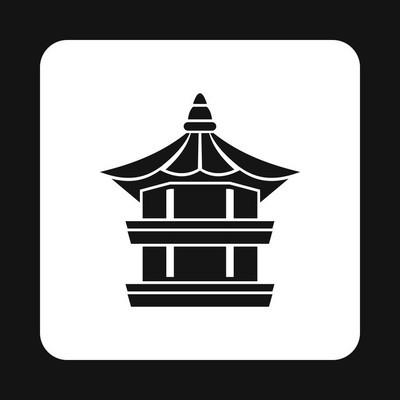 简约风格寺庙图标