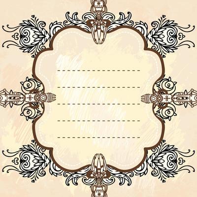 Dras industriella steampunk stil ram绘制工业蒸汽朋克风格画框