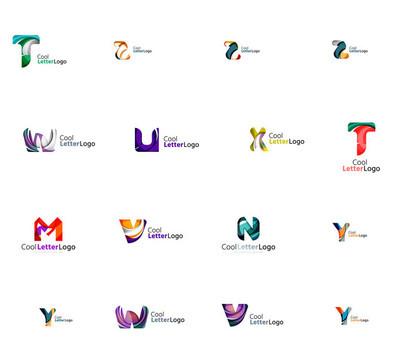 Set of universal company logo