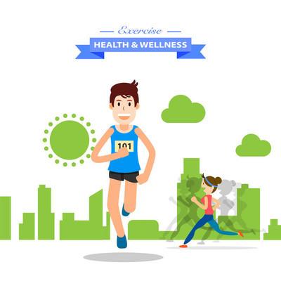 年轻人跑和马拉松体育培训